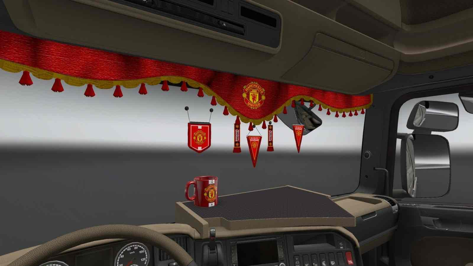 Manchester United Football Club decorations for trucks ETS2 Mod for Euro Truck Simulator 2