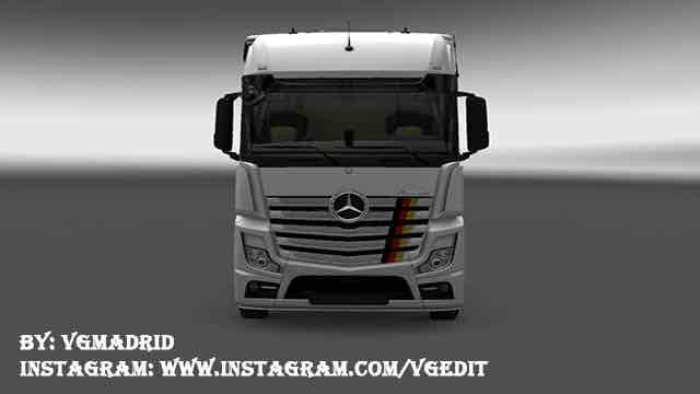 Germany Flag for Mercedes Benz Actros 2014 Mod for Euro Truck Simulator 2