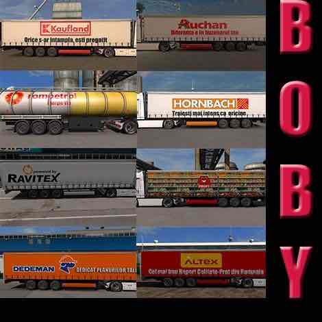 10 Trailer From Real Life Companies 1.31.X Mod for Euro Truck Simulator 2