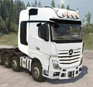 Mercedes-Benz MP4-A v1.1 Truck Mod for SpinTires MudRunner