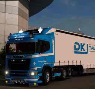 Danny V.D. Heuvel Standalone Scania And Ownable Trailer V1.0 Mod for Euro Truck Simulator 2
