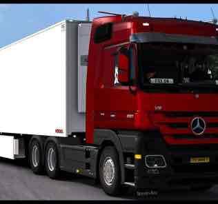 Mercedes-Benz Antos 12 – Upgrading 1.34 Mod for Euro Truck Simulator 2