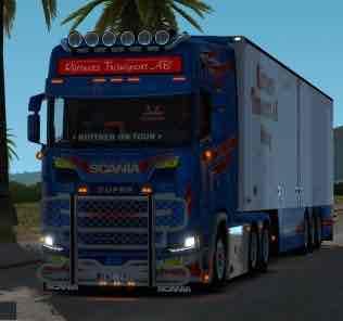 Ruttners Transport Scania 1.32-1.33.X Mod for Euro Truck Simulator 2