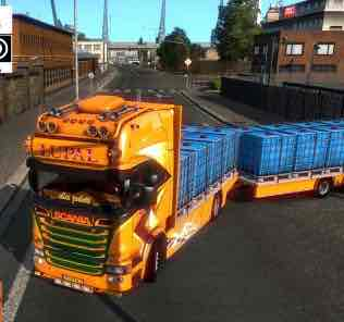 Scania Lupal & Trailer Owned 1.34.X Mod for Euro Truck Simulator 2