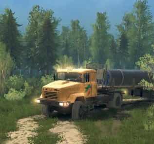KrAZ-5131 Truck Mod v18 / 05/21 Mod for SpinTires MudRunner