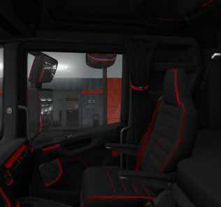 Scania S&R Cmi Black & Red Interior V1.0 Mod for Euro Truck Simulator 2