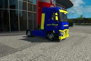 Skins Good Year For Rta Renault Ranger T V1.1 Truck Skin Mod for Euro Truck Simulator 2