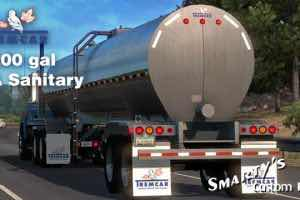 Tremcar 3A Sanitary V1.2 1.35.X Trailer Mod for American Truck Simulator
