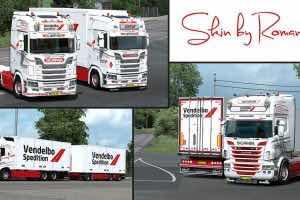 Vendelbo Spedition Skinpack V1.0 Mod Mod for Euro Truck Simulator 2