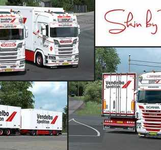 Vendelbo Spedition Skinpack V1.0 Mod Mod for Euro Truck Simulator 2