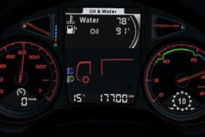 Daf XF Euro 6 more readable dashboard v1.4 Mod for Euro Truck Simulator 2